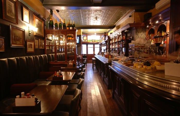Fox & Anchor pub's interior