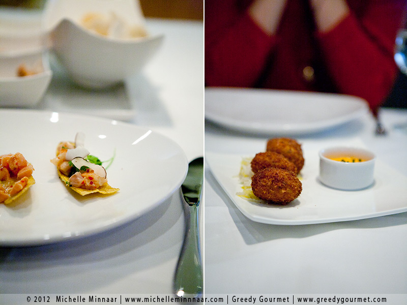 Ceviche and Crab Croquettes
