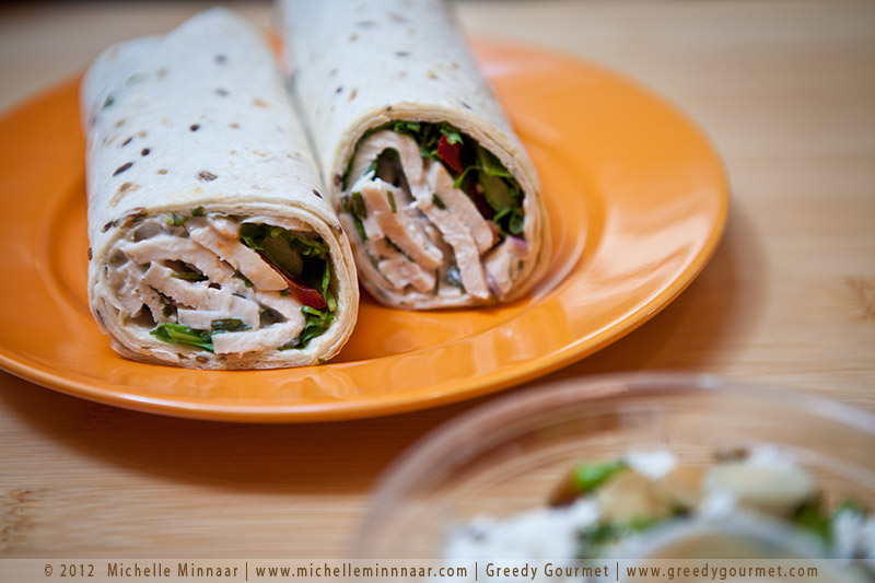 Tarragon Chicken and Red Pepper Wrap