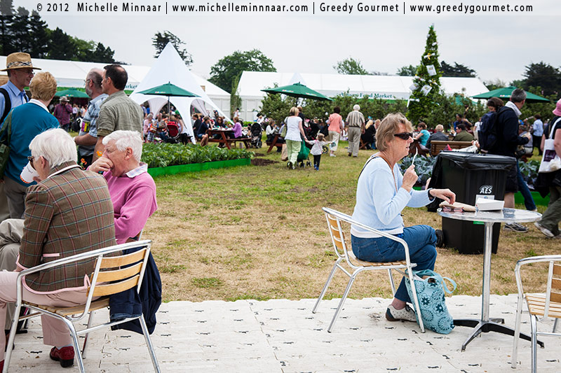 Seating areas at Bloom in the Park