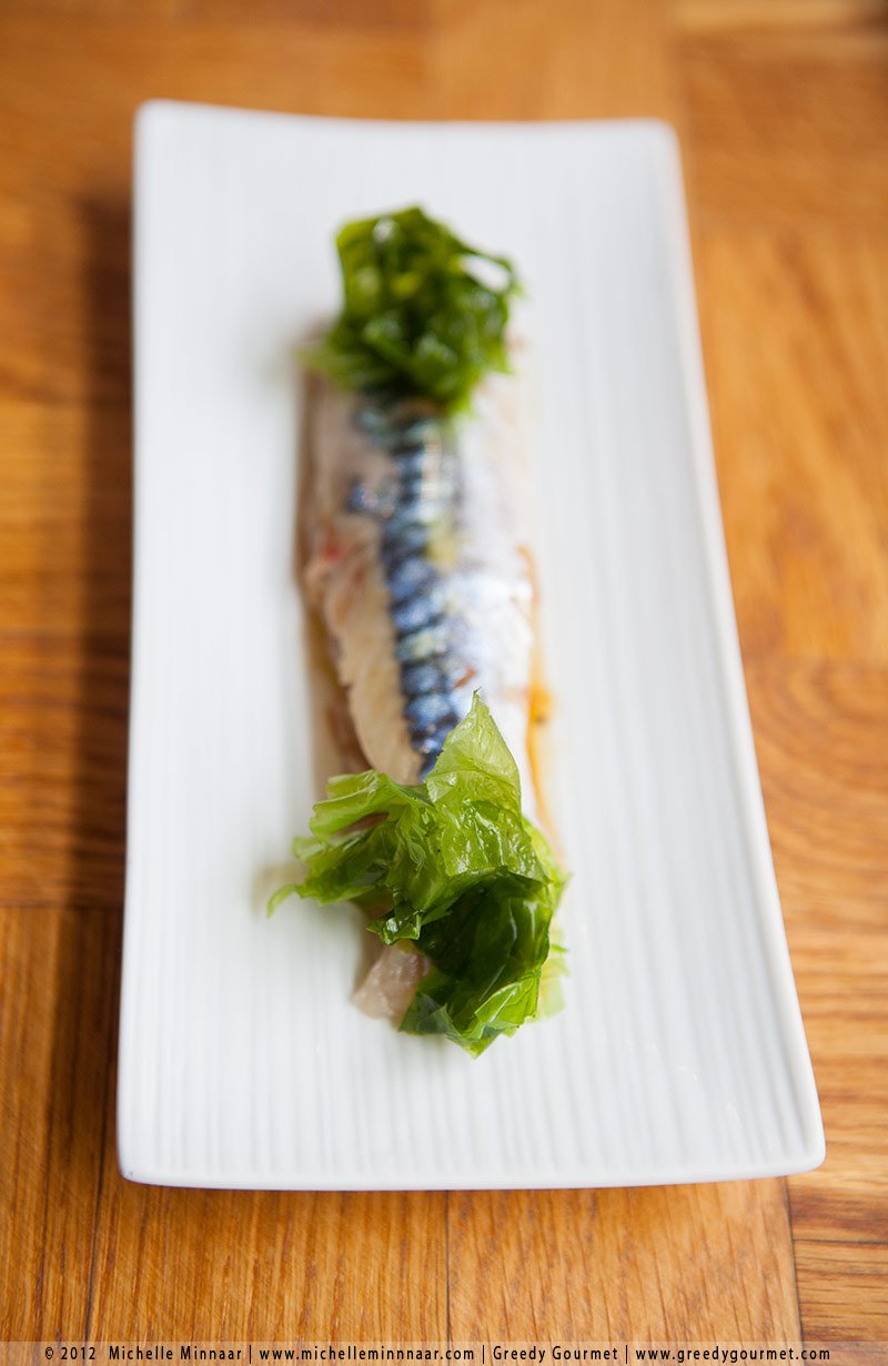 Raw Mackerel and Seaweed