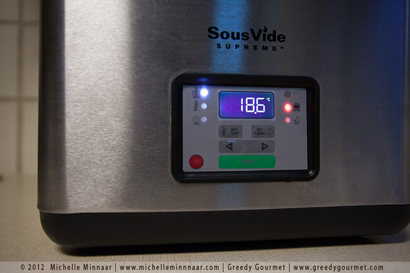 Sous-Vide Supreme Heating Up
