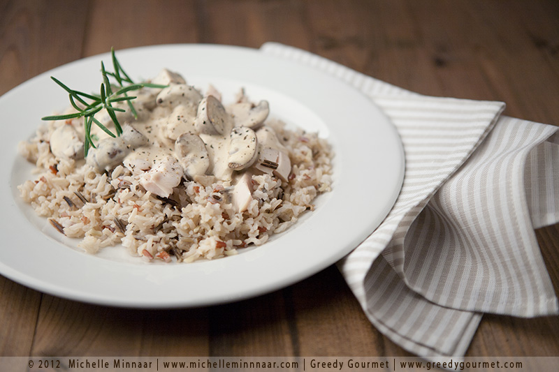 Sous-Vide Chicken Breasts with Creamy Mushroom & Sherry Sauce