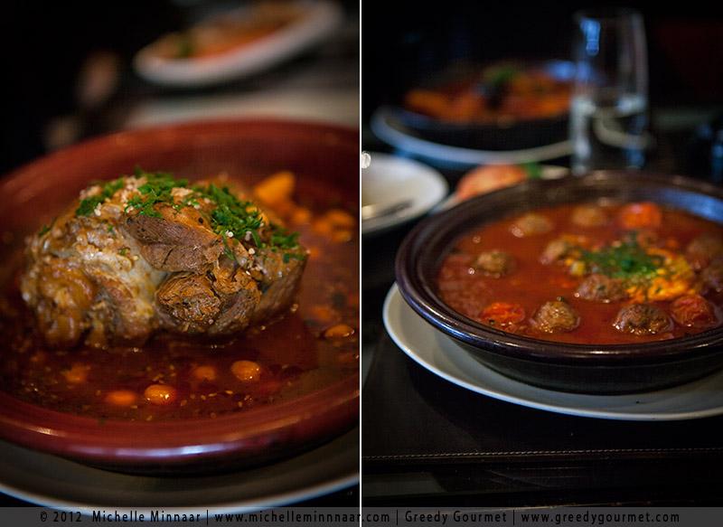 Lamb Shank & Chickpea Tagine and Kefta Tagine