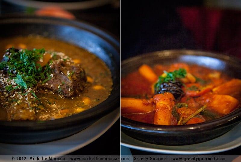 Lamb & Prune Tagine and Vegetable Tagine