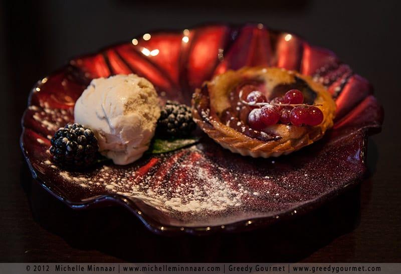 Fig Tart with Cinnamon Ice Cream