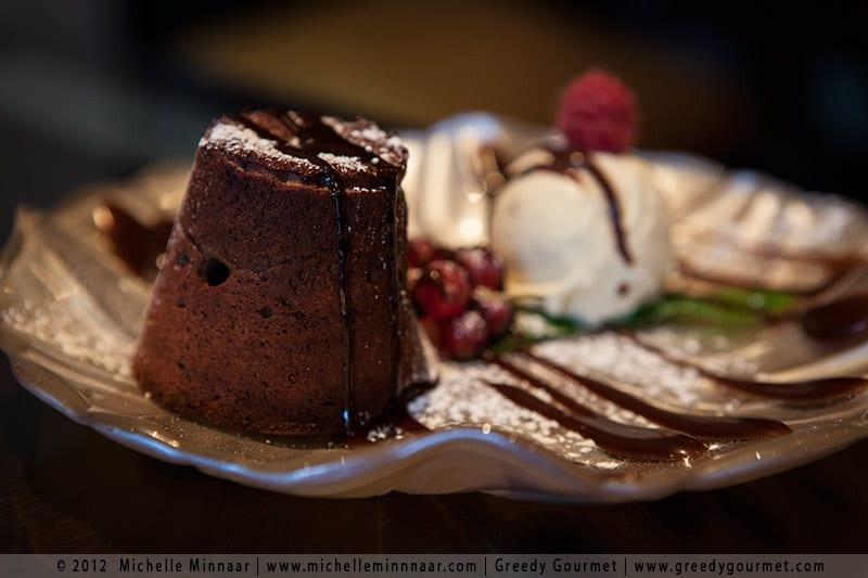Chocolate Fondant with Vanilla Ice Cream at Mamounia Lounge