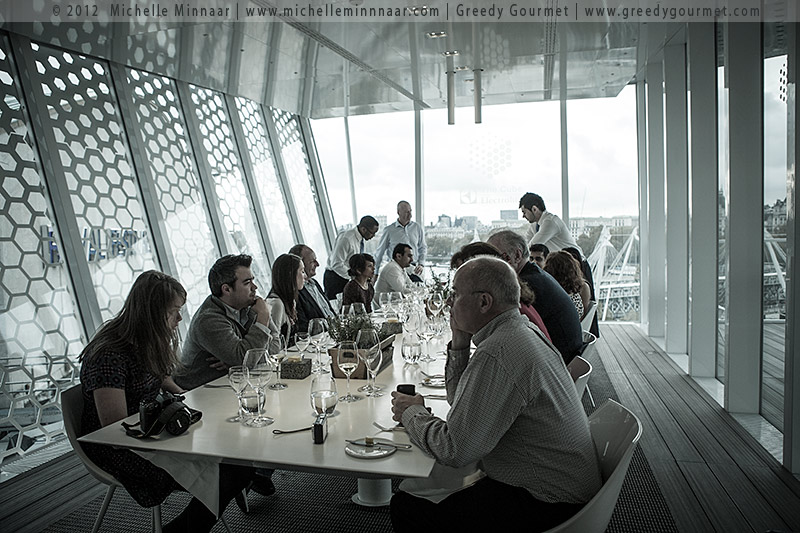 Simon Rogan's lunch at The Cube