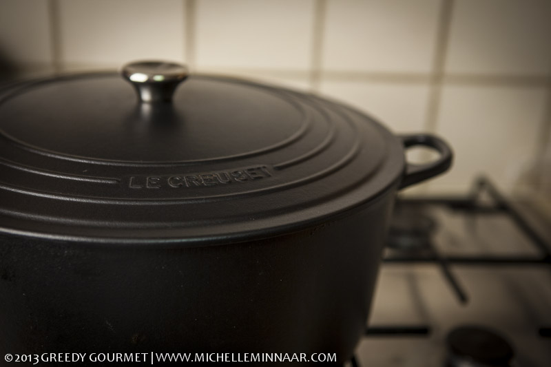 Black Le Creuset Pot