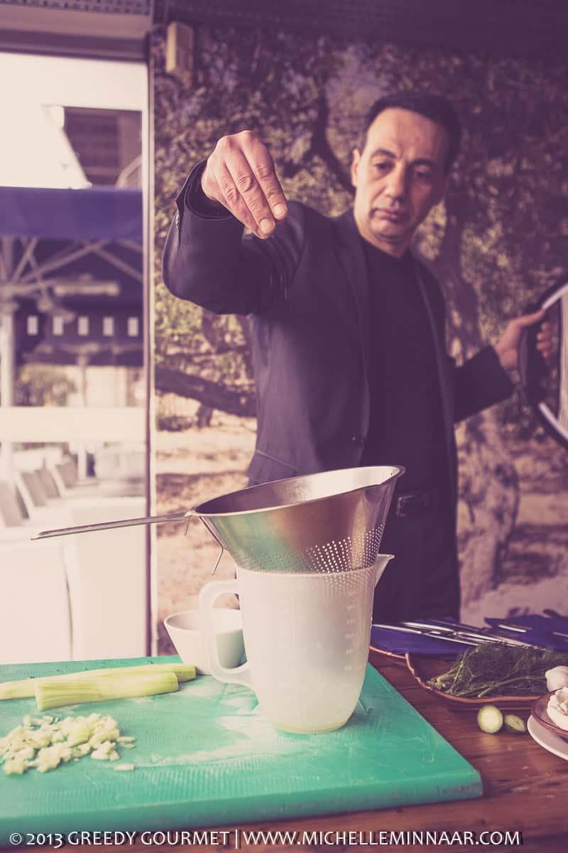 Preparing Tzatziki