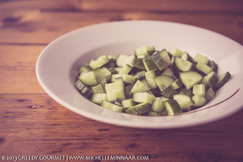 Diced Cucumbers