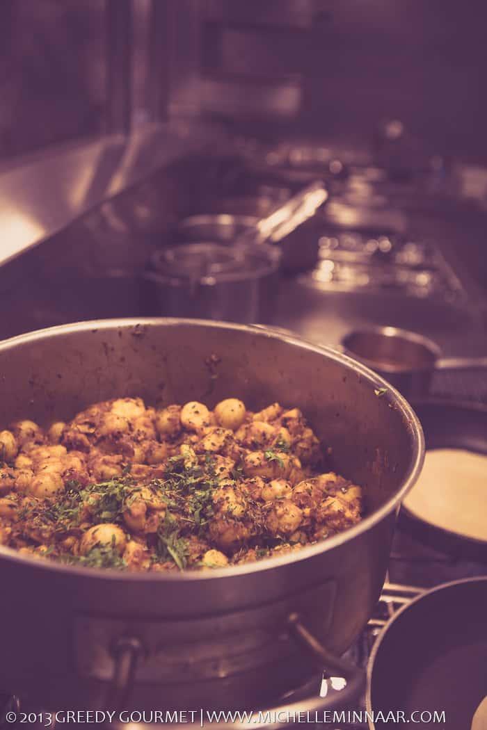 Big pots in Benares' kitchen