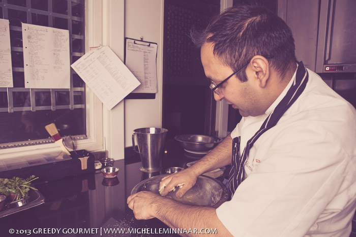 Chef at Benares Restaurant
