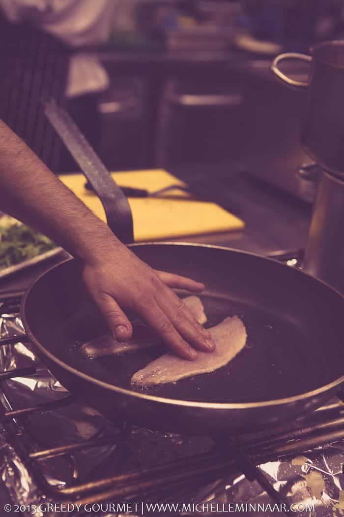 Pan Frying Seabass