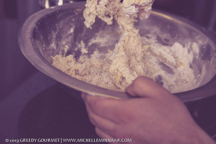 Preparing samosa pastry
