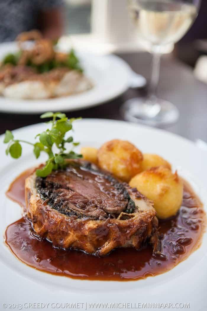 Beef Wellington with Roast Potatoes