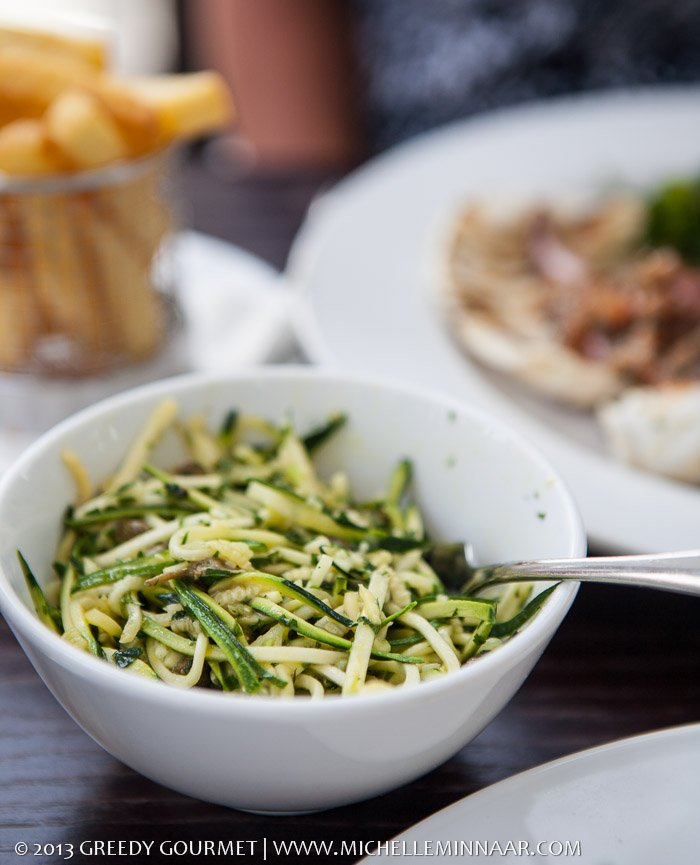 Courgette Noodles with Anchovies and Capers