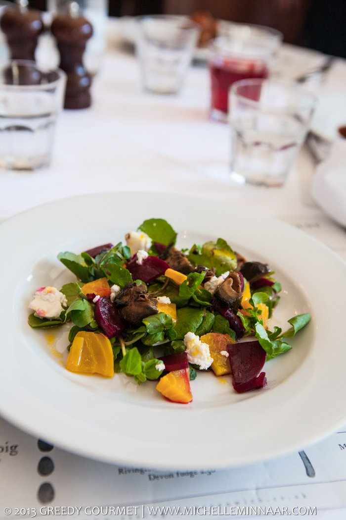 Beet, Pickled Walnut and Goat's Cheese Salad