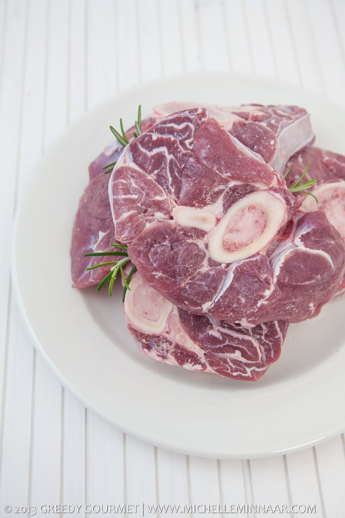 Raw Veal shank slices