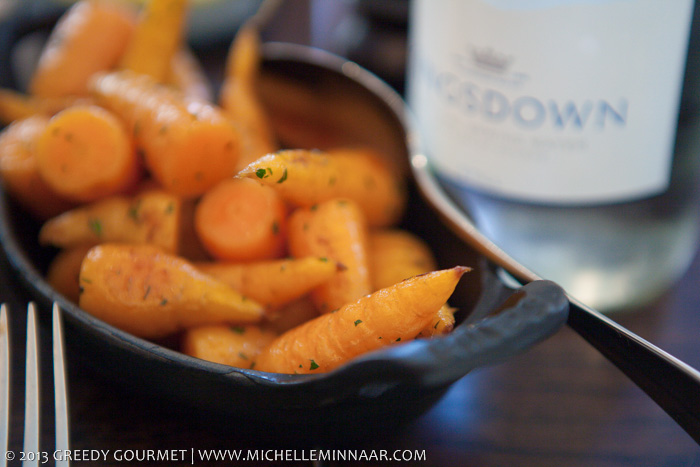 Chantenay carrots, chervil butter