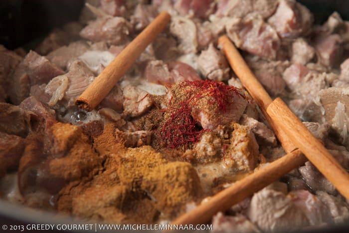 Cinnamon, Saffron and Cumin for Lamb Tagine