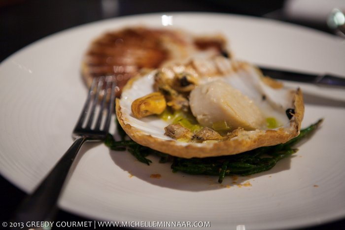 Scallops, mussels and cockles with samphire