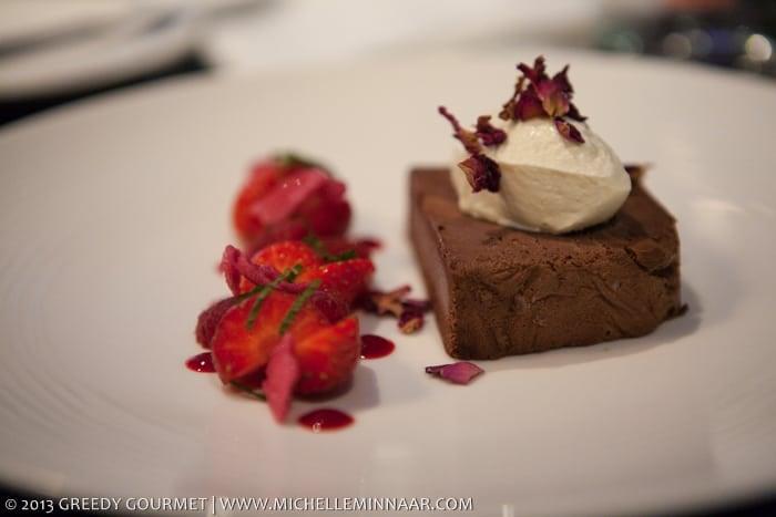 Chocolate & Rose Parfait
