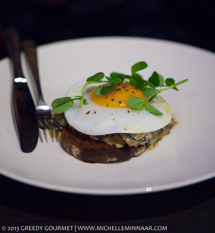 Mushroom on Sourdough Toast with Duck Egg