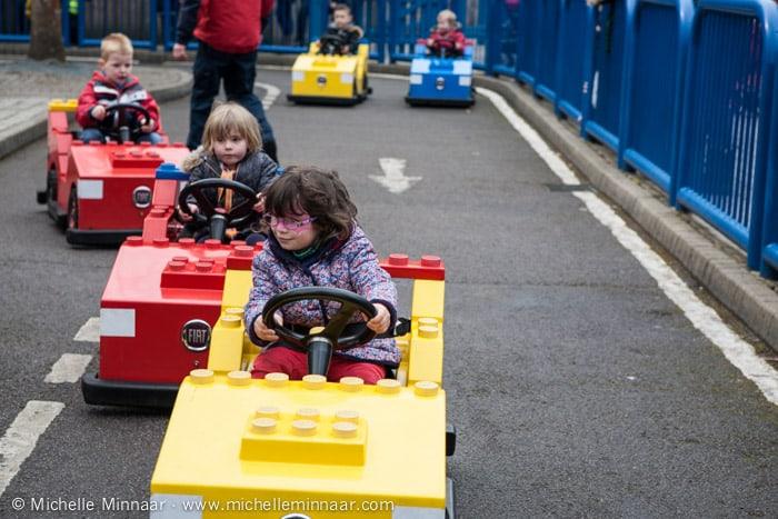 Driving mini lego cars