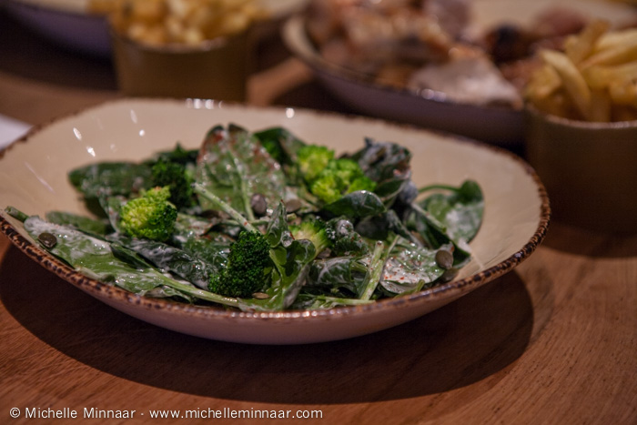 Broccoli, Spinach and Pumpkin Seed Salad