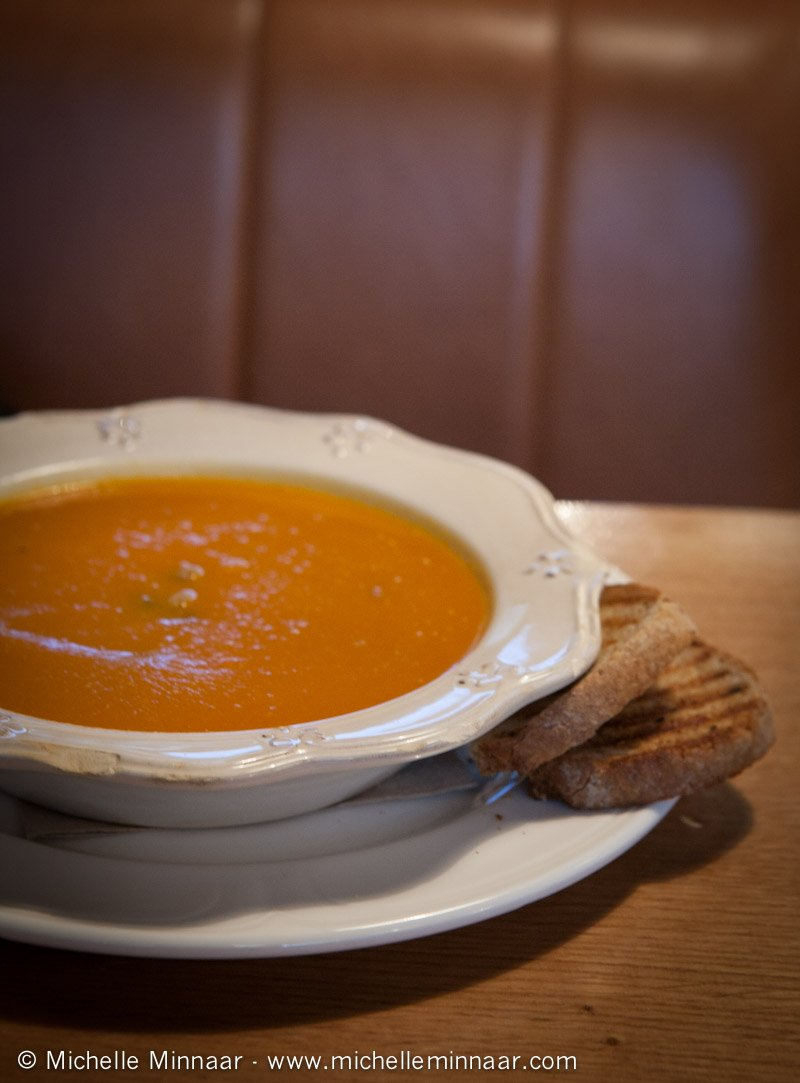 Pumpkin Soup with Toasted Bread