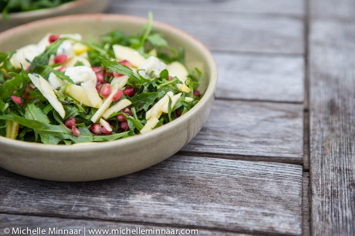 Manchego, Rocket & Pomegranate Salad