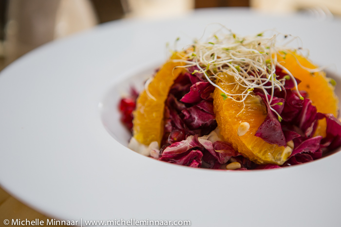 Orange, Radicchio & Alfalfa Salad