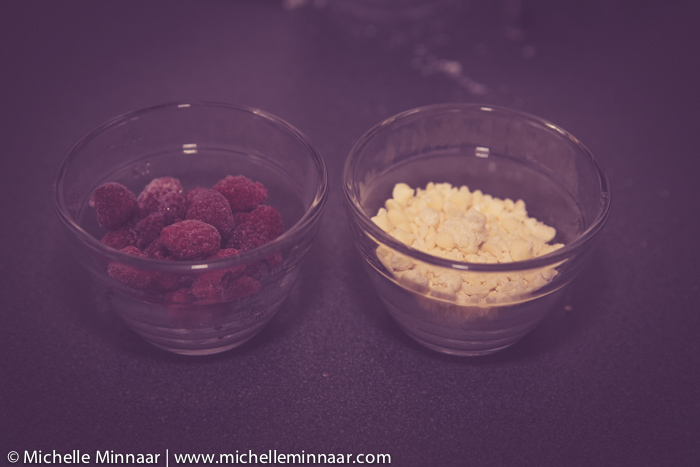 Raspberries and White Chocolate