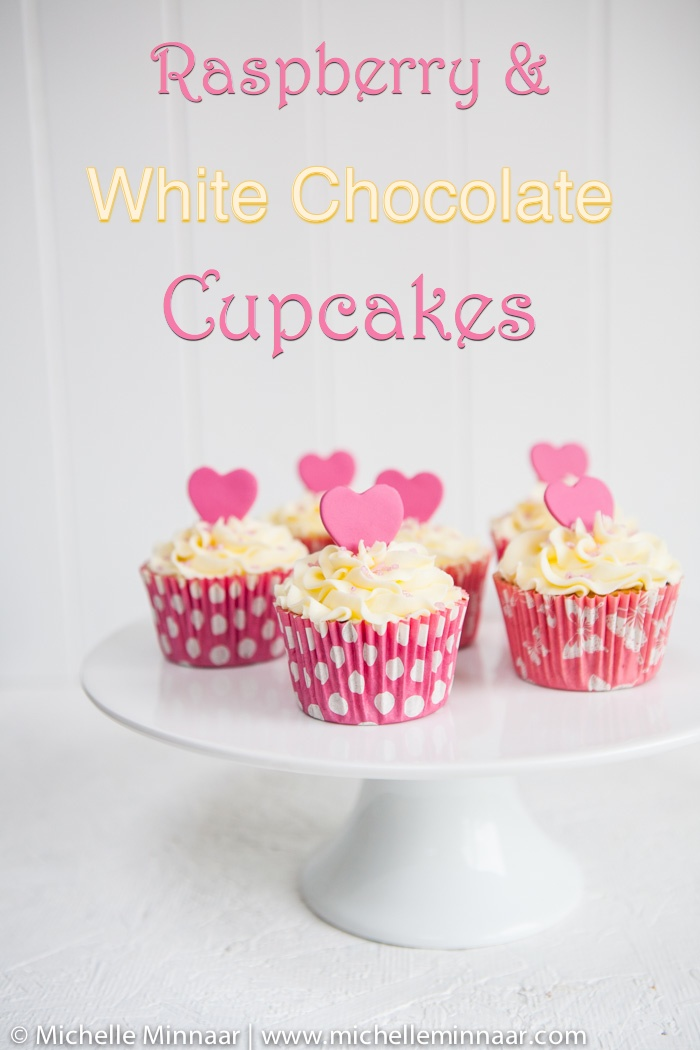 Raspberry and White Chocolate Cupcakes
