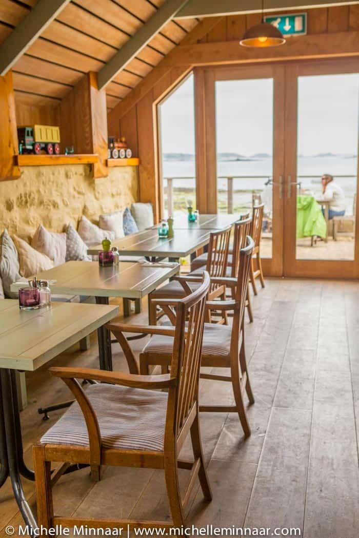 Ruin Beach Cafe Interior