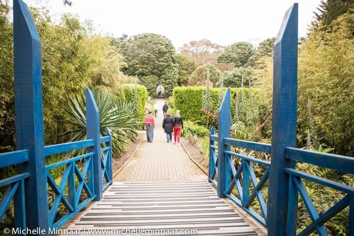 Blue bridge at Abbey Gardens