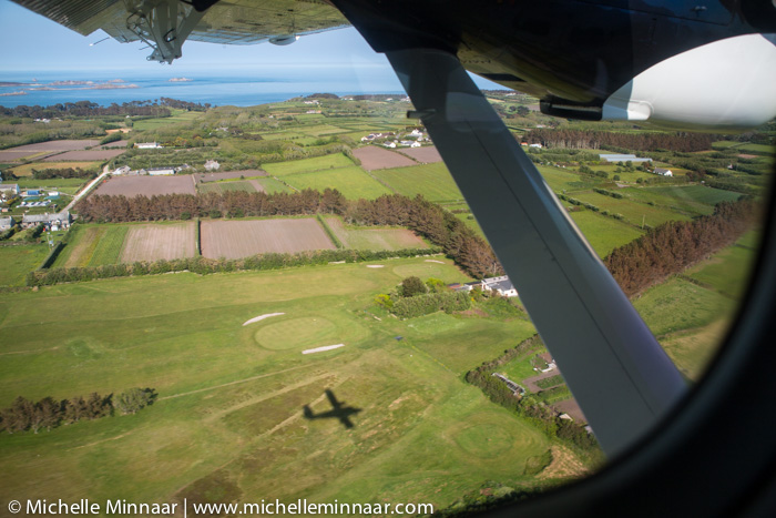 Flying over Scilly Isles