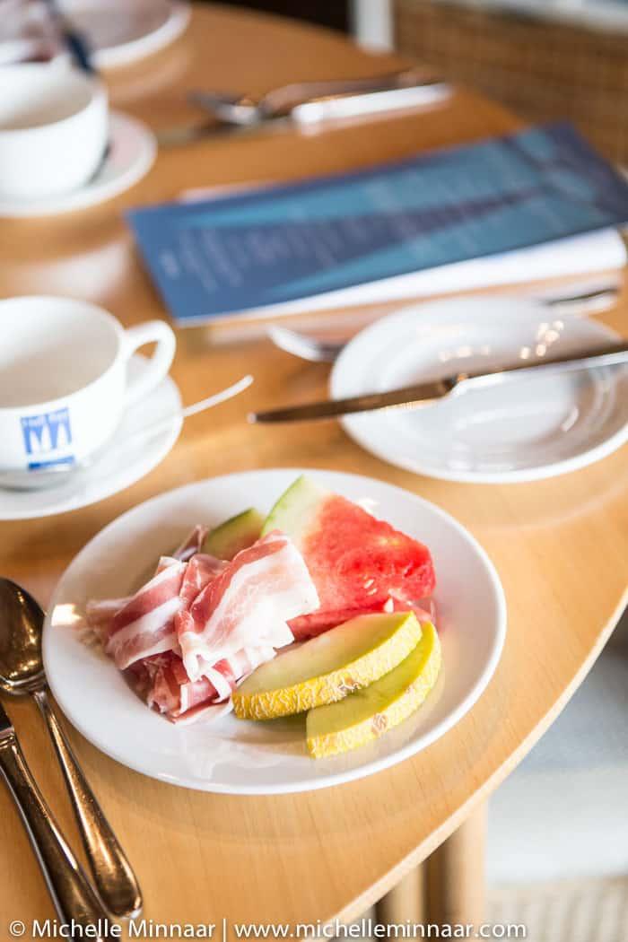 Fresh Fruit Slices & Ham