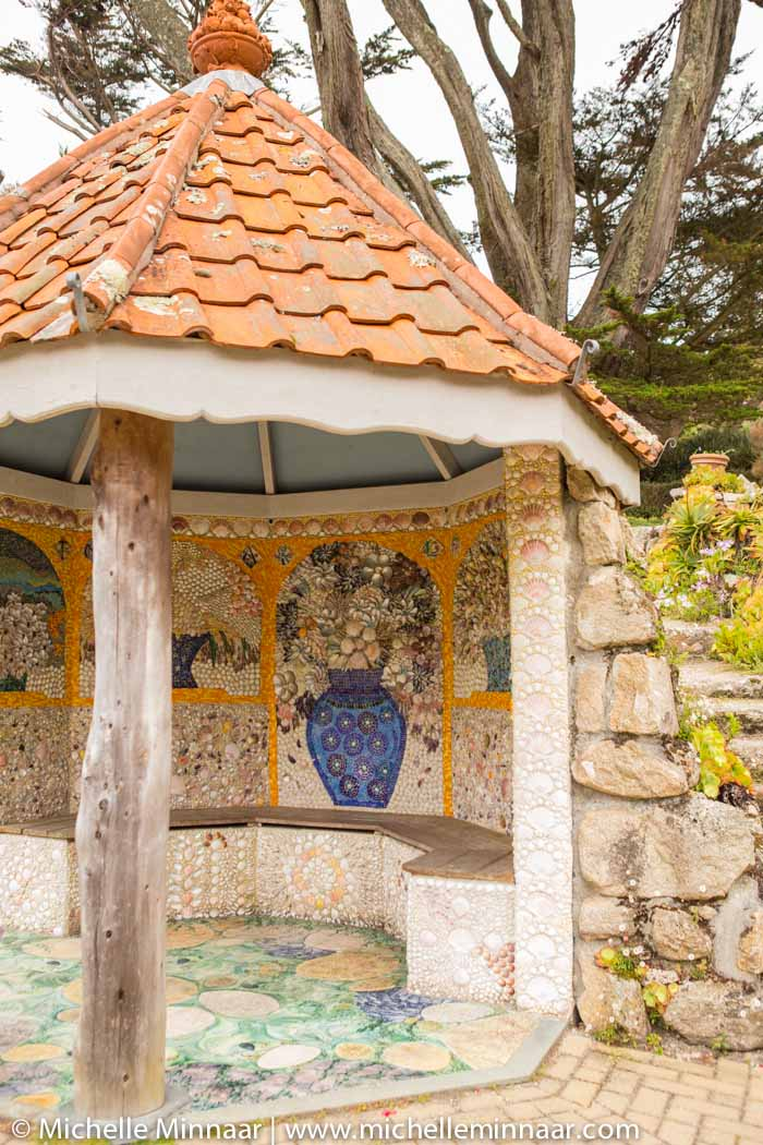 Gazebo with shell decorations