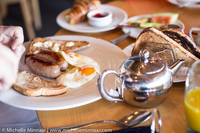 Toast with Sausage & Egg