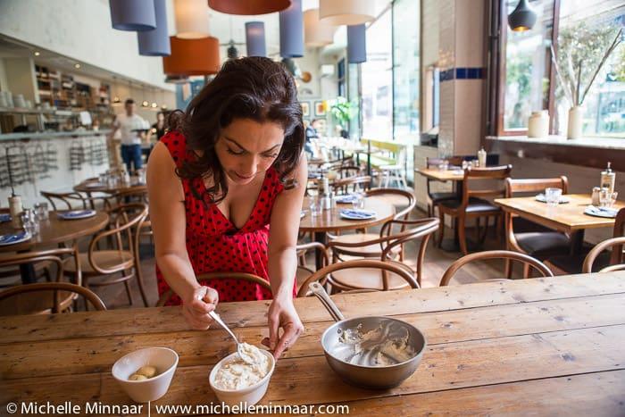 Tonia Buxton prepares moussaka