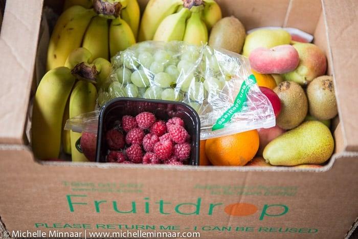Box full of British fruit
