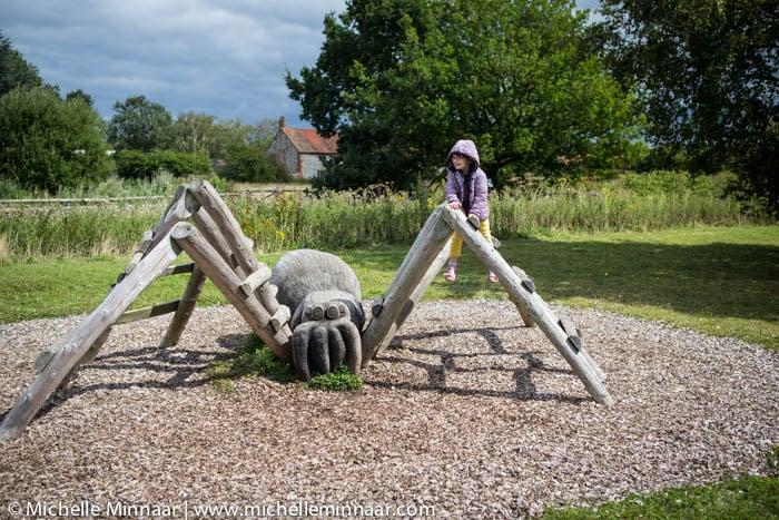 Huge wooden spider