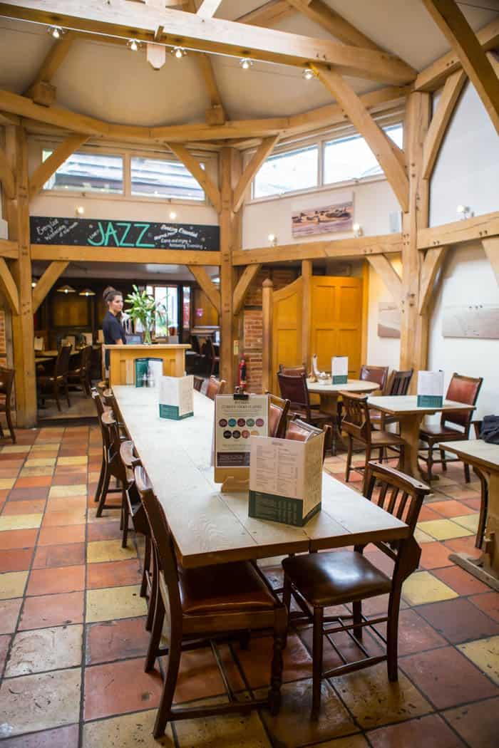 Inside Byfords restaurant in Norfolk