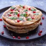 Stacked indian bread on a plate