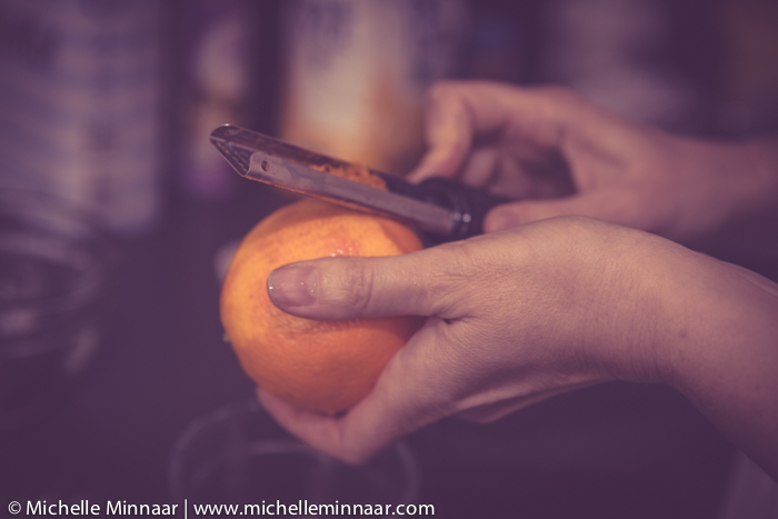 Grating orange