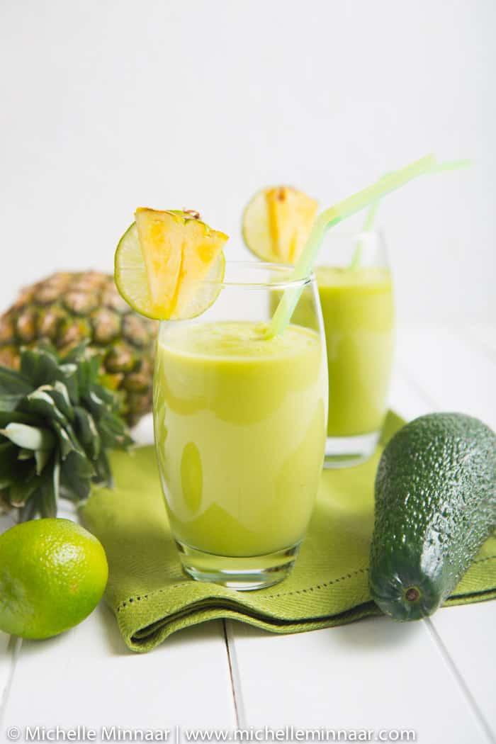 Pineapple & Avocado Smoothie