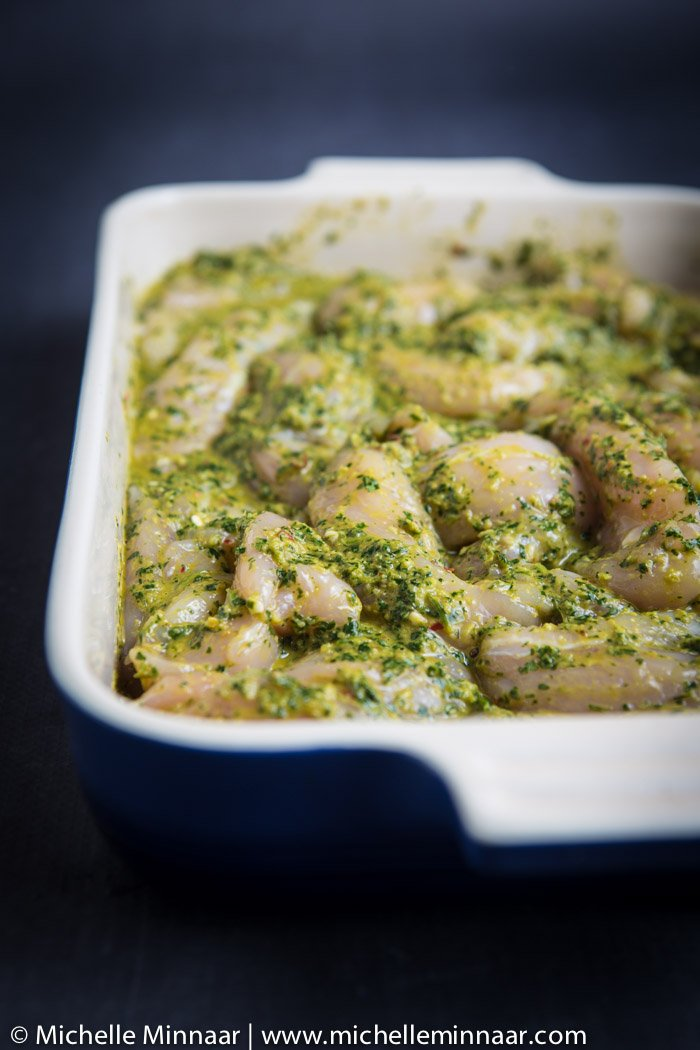 Green chicken marinade