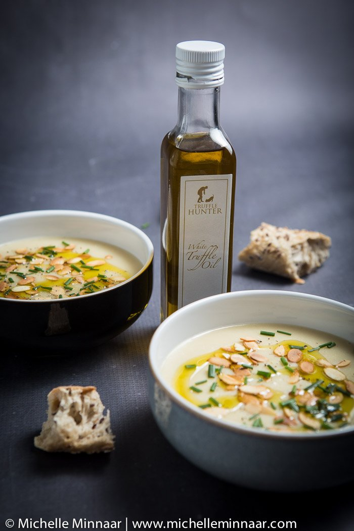Cauliflower Soup with Truffle Oil